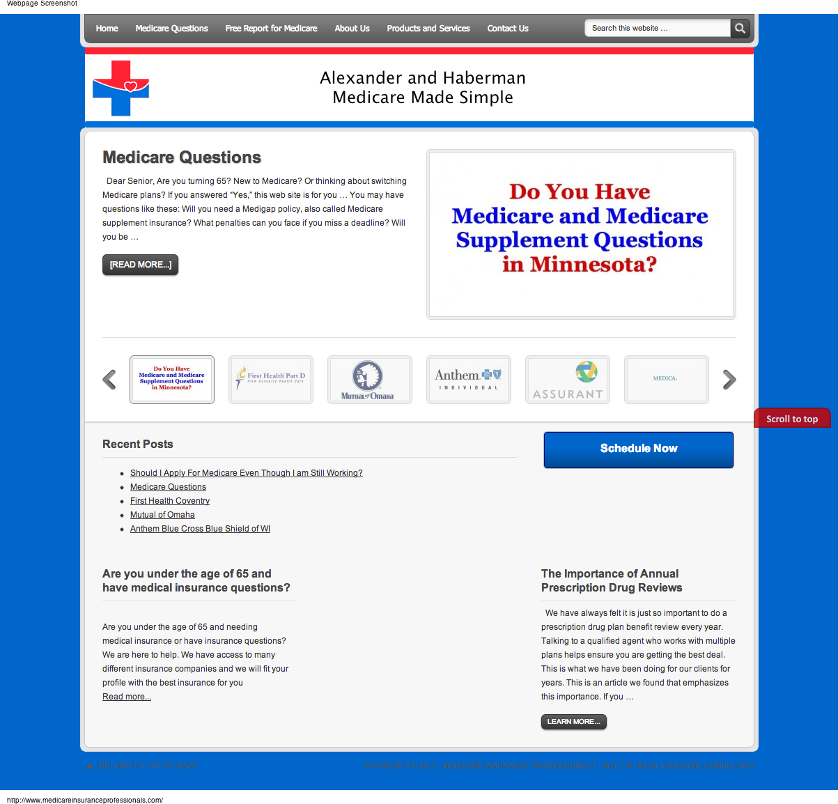 Medicare Insurance Website and Social Media Design
