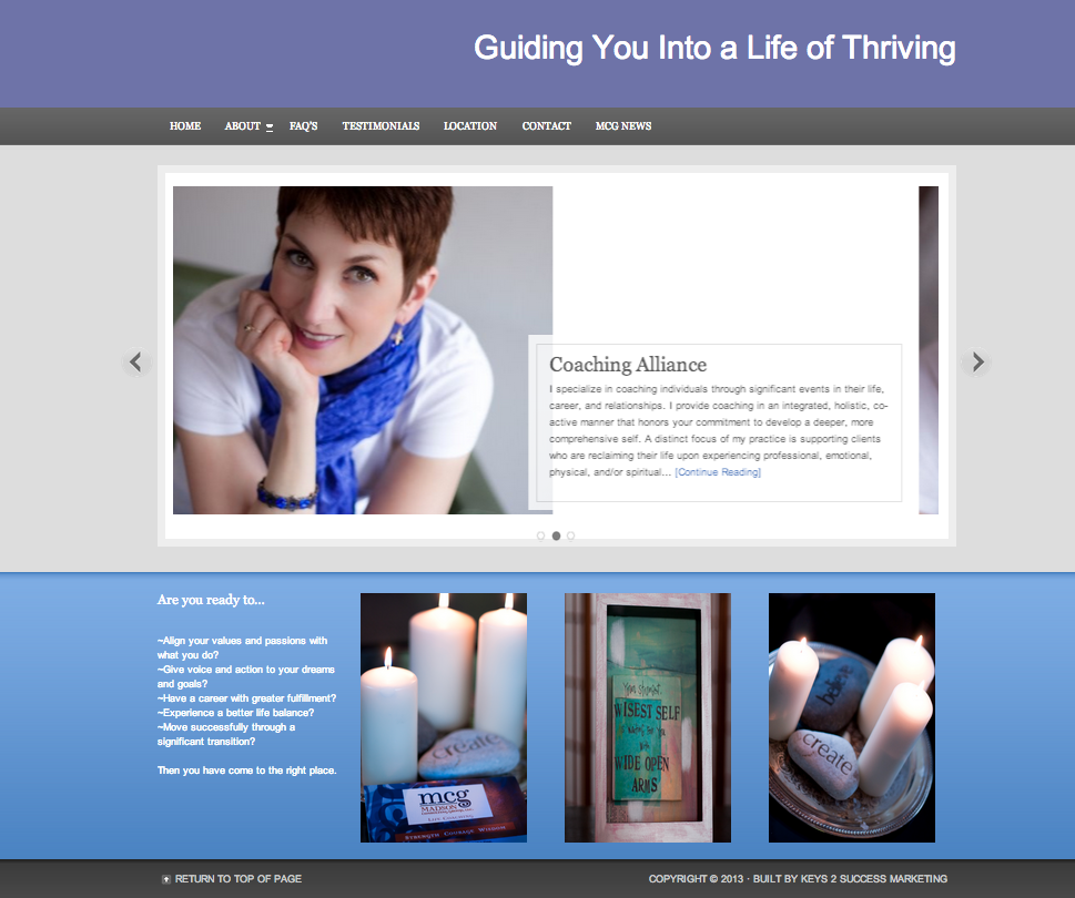Personal Coaching Website