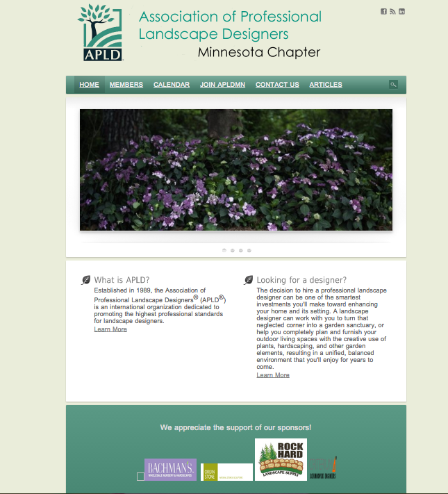 Landscape Designer Association Website