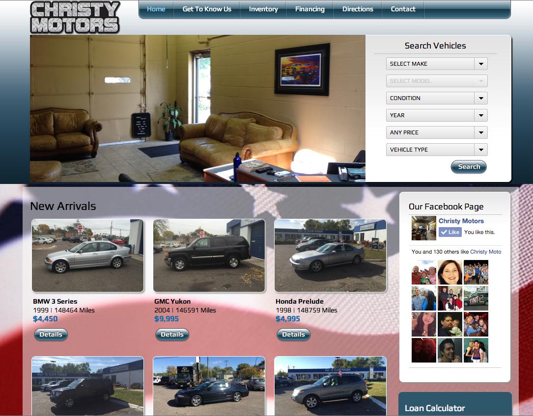 Used Car Sales Website